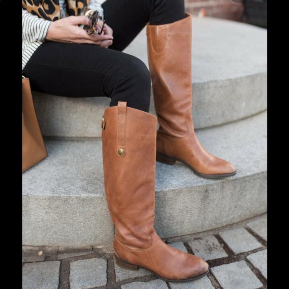Sam Edelman Shoes - Sam Edelman Penny Brown Leather Riding Boots